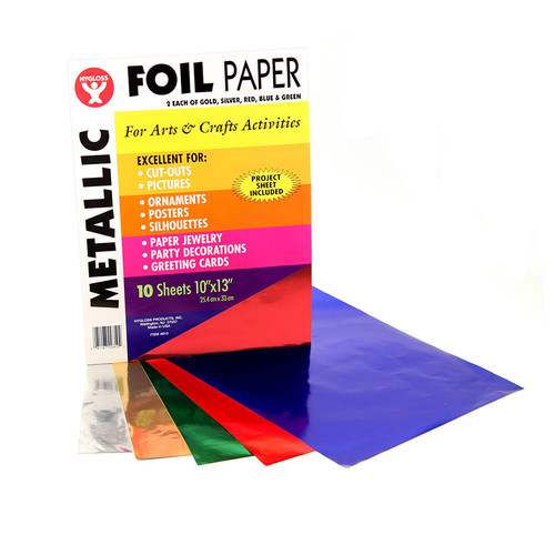 Hygloss Products Inc. HYG810 Metallic Paper 10pk Asst Colors