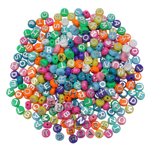 Hygloss Products Inc. HYG69300 Abc Beads 300pk For Arts & Craft Projects