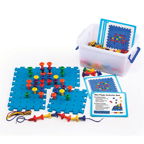 Learning Advantage CTU39495 Geo Pegboard Activity Set