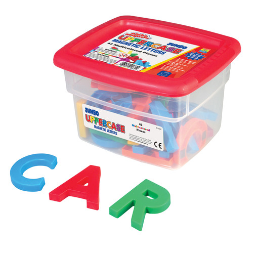 Learning Resources EI-1682 Alphamagnets Jumbo Uppercase 42 Pcs Multicolored