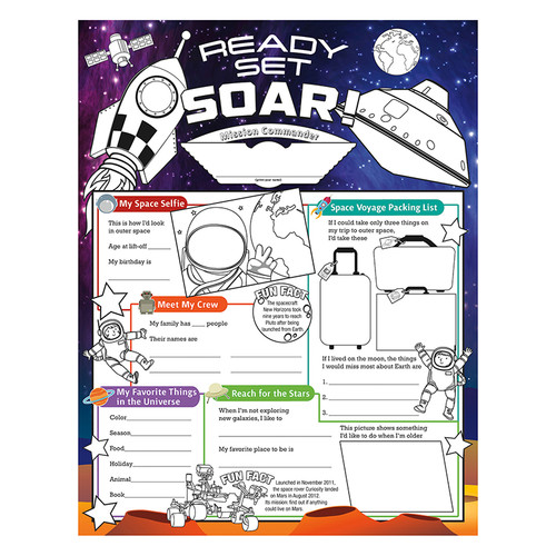 North Star Teacher Resource NST3093 Launch Into Learn Fill Me In Poster
