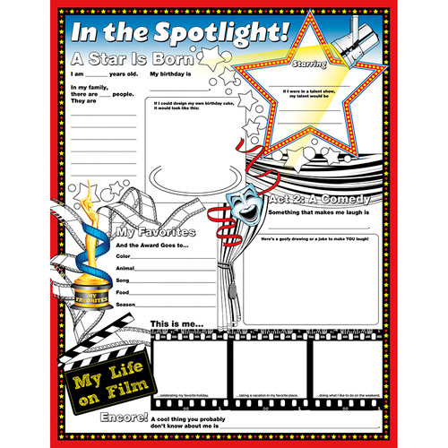 North Star Teacher Resource NST3091 Fill Me In Posters In The Spotlight