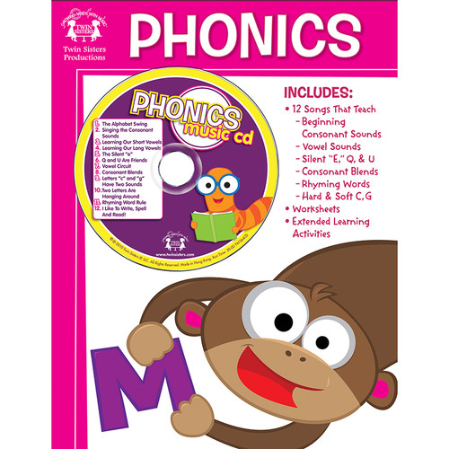 Pbs Publishing TWIN364CD Workbook Songs That Teach Phonics Workbook & Cd
