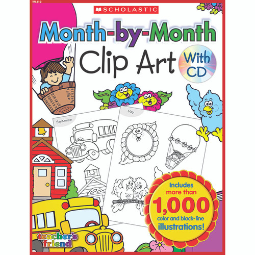 Scholastic Teaching Resources TF-1610 Month-by-month Clip Art Book