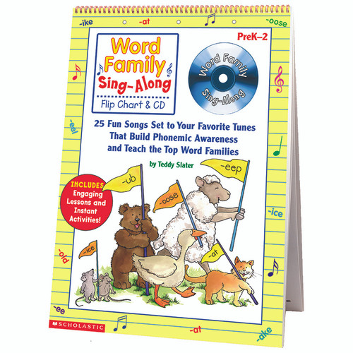 Scholastic Teaching Resources SC-0439456703 Word Family Sing-along Flip Chart & Cd