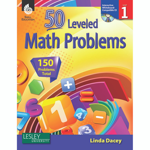 Shell Education SEP50773 50 Leveled Math Problems Level 1 W / Cd