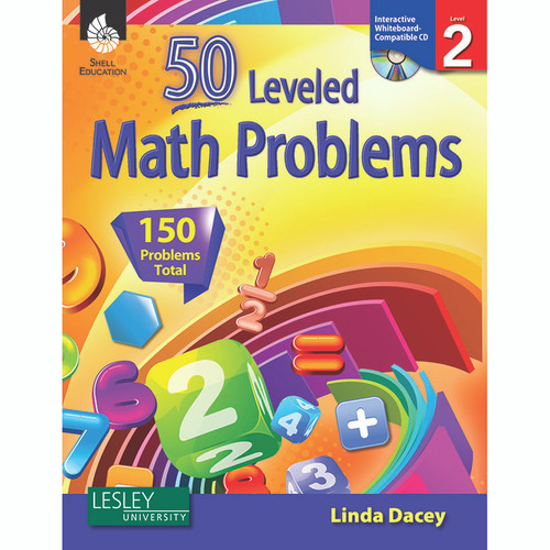 Shell Education SEP50774 50 Leveled Math Problems Level 2 W / Cd