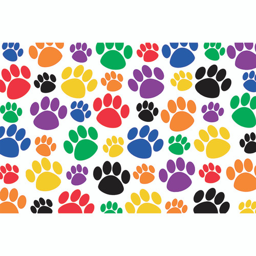 Teacher Created Resources TCR4799 Colorful Paw Prints Postcard