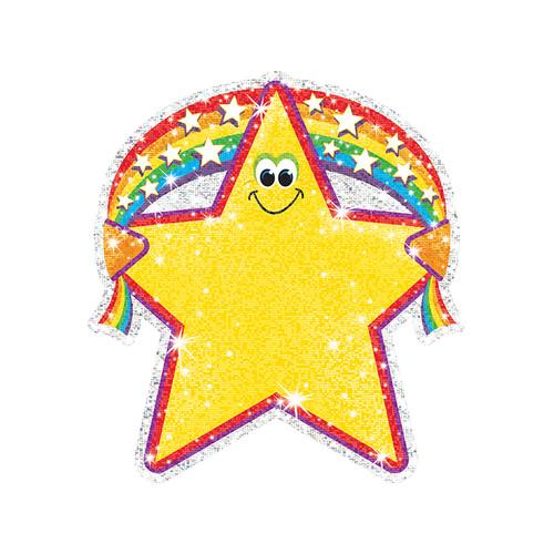 Trend Enterprises Inc. T-10107 Sparkle Accents Rainbow Star 24 / Pk 5 X 5