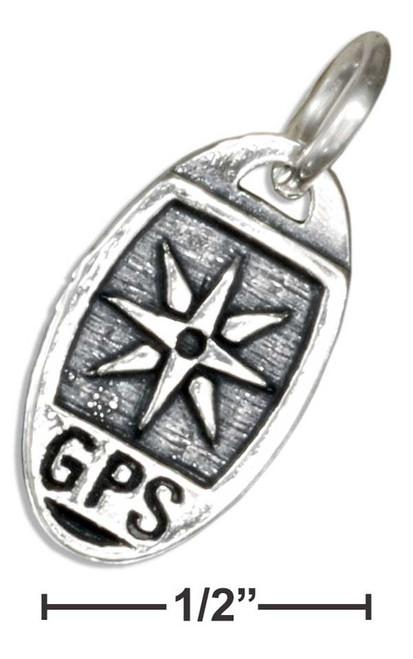 ".925 Sterling Silver ""gps"" ""geocacher"" Charm"