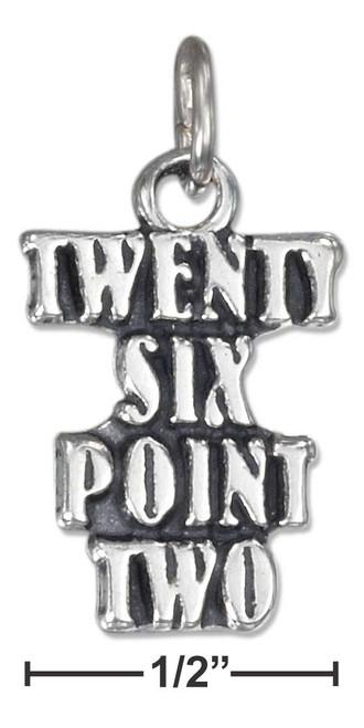 ".925 Sterling Silver Antiqued Marathon ""twenty Six Point Two"" Charm"