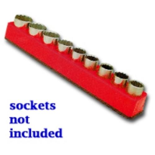 """1/2"""" Drive Magnetic Rocket Red Socket Holder   10-19mm"""
