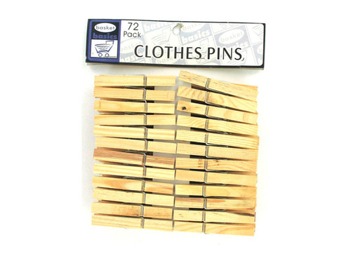 36 pack wooden clothes pins