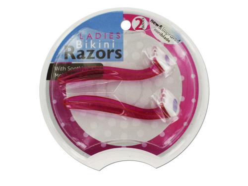 Ladies Bikini Razors with Aloe Strips
