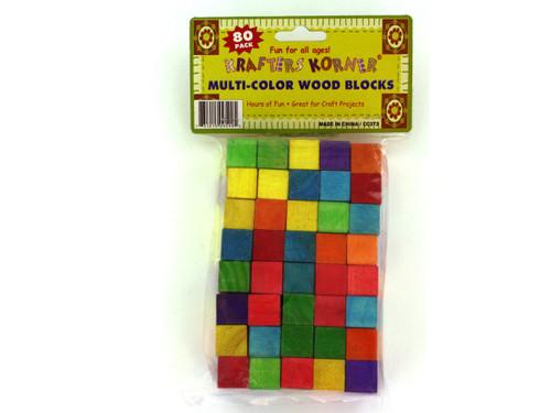 80 piece color wood blocks