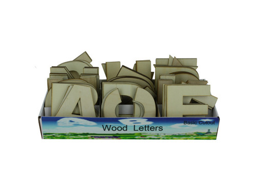 Wood letters display