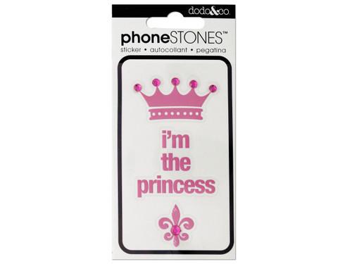 I'm the Princess Phone Stones Stickers