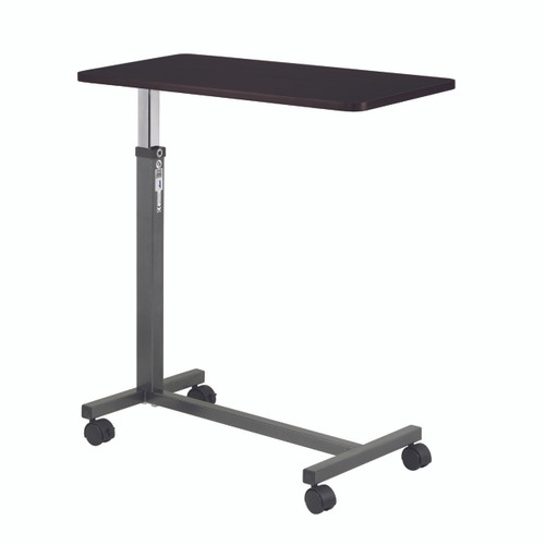 Non Tilt Top Overbed Table, Silver Vein