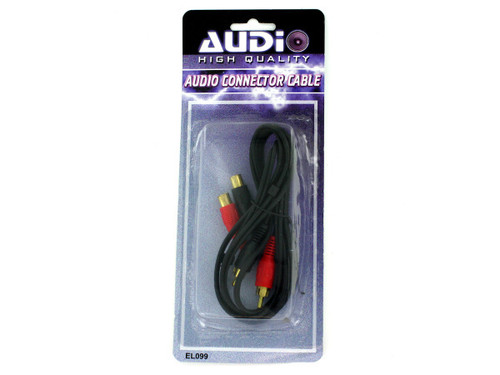 Audio connector cable with four plugs