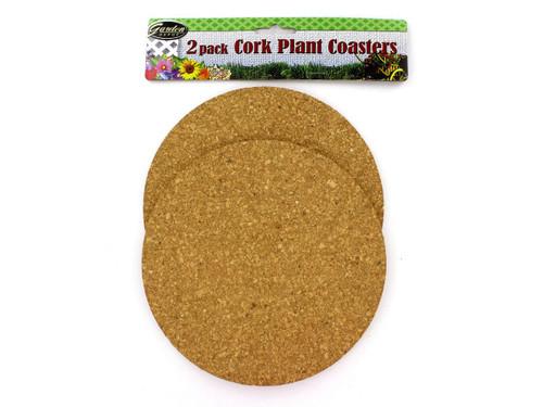 2 Pack Cork Plant Coasters
