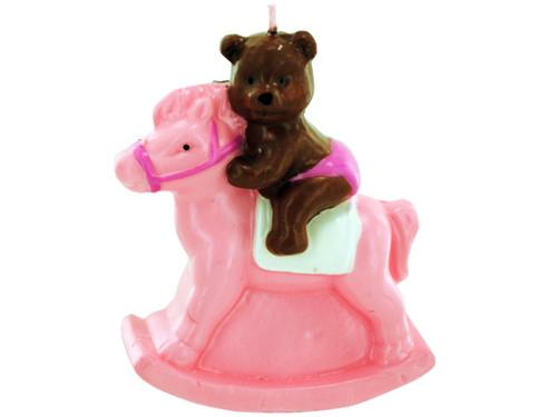 3.5x4 pnk bear candl 6421