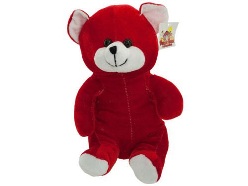 """10"""" red plush bear 4673"""