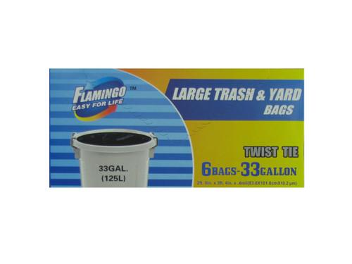 Large trash and yard bags, 33 gallon