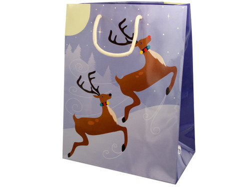 12.5x9.5 giftbag reindeer