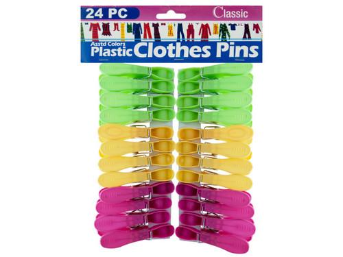 24pc plastic clothespins