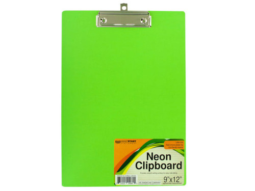 Neon Clipboard with Steel-Chrome Plated Clip