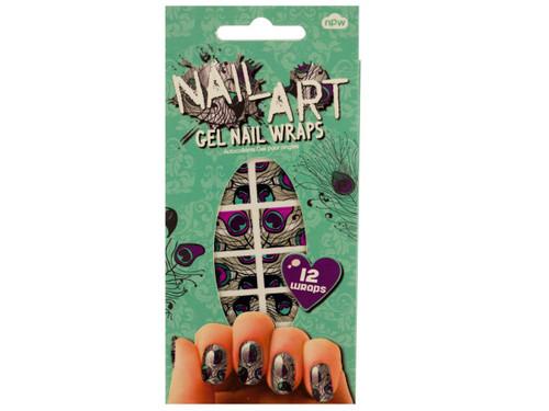 Peacock Nail Art Gel Nail Wraps Set