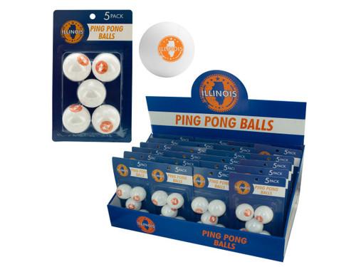 Illinois Ping Pong Balls Countertop Display
