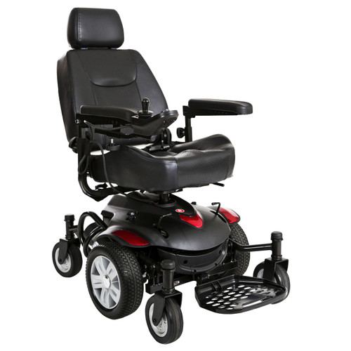 "Titan AXS Mid-Wheel Power Wheelchair, 16""x18"" Captain Seat"