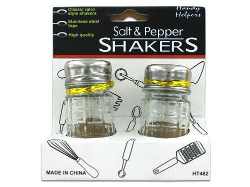 Checkered Glass Salt & Pepper Shaker Set