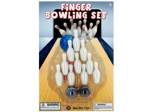 12 piece finger bowling set