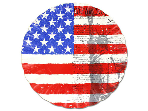Liberty/flag paper serving tray