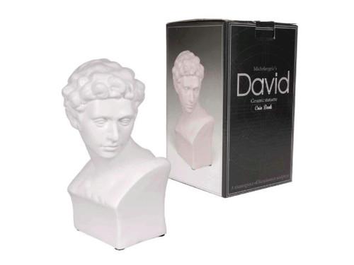 Michelangelo's David Ceramic Statuette Coin Bank