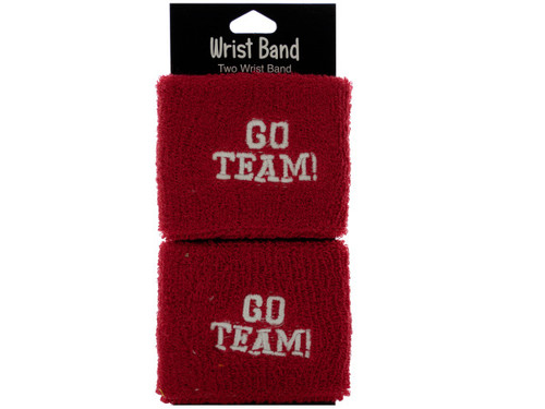 2pc red wristbands 051148