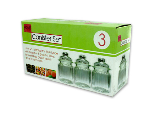 10 oz. Clear Glass Canister Set