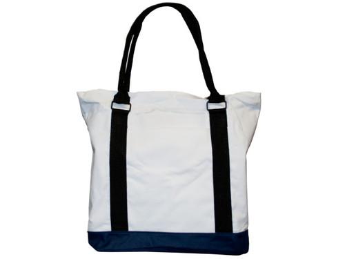 "15"" tote bag white/navy"
