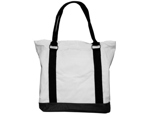 "15"" tote bag white/black"