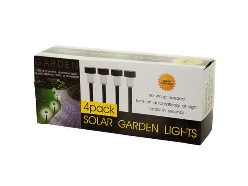 4-Piece Solar Powered Garden Lights Set