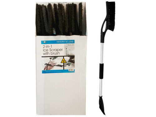 2-In-1 Ice Scraper with Brush Display