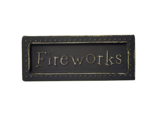 Fireworks Mini Metal Sign Magnet
