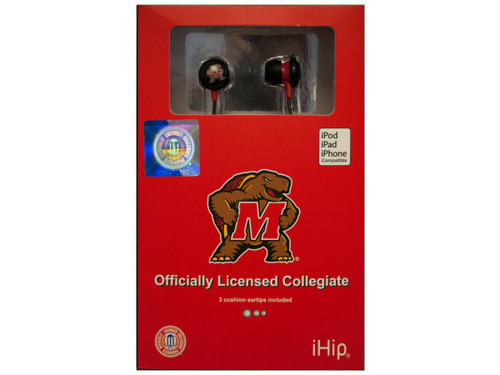 Collegiate Licensed University of Maryland Earphones