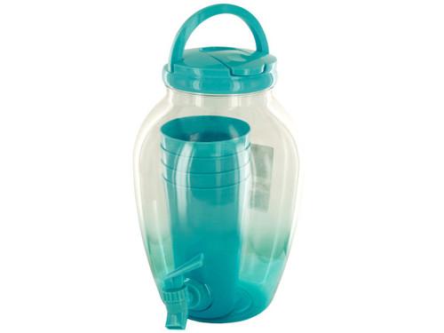 1.2 gal. Beverage Dispenser Set with Cups