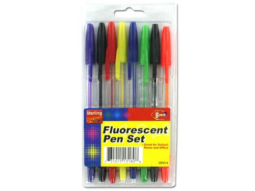 8 Pack fluorescent colored pen set