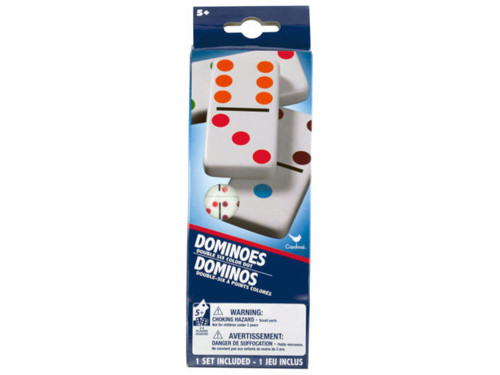 Double Six Color Dot Dominoes