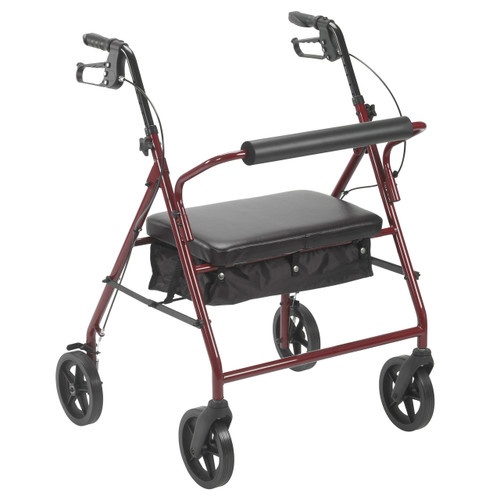 """Bariatric Rollator with 8"""" Wheels, Red"""