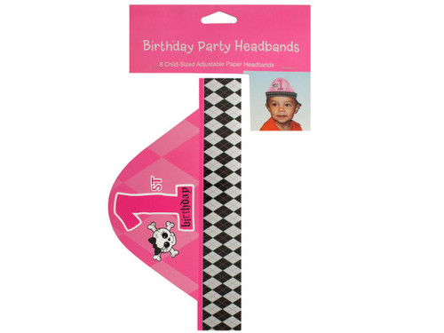 1st Birthday Party Headbands Set